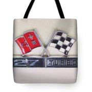427 Turbo Jet Corvette Emblem Tote Bag