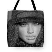 # 5 Adriana Lima Portrait Tote Bag