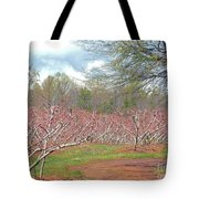 A Peach Orchard   Tote Bag