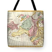 A Truly Fascinating 1772 Map Of The Northwestern Parts Of North America By Robert De Vaugondy And T Tote Bag