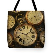 Aged Pocket Watches Tote Bag