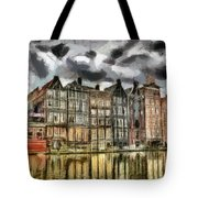 Amsterdam Water Canals Tote Bag