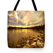 Androscoggin River Between Lewiston And Auburn Tote Bag