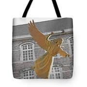 Angel In Gaz Masque Pointing To The Public Tote Bag