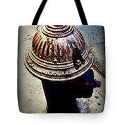 Antique Fire Hydrant - Blue Tones Tote Bag