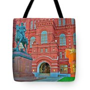 Back Of Russian Historical Museum In Moscow-russia Tote Bag