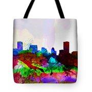 Baltimore Watercolor Skyline Tote Bag
