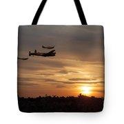 Battle Of Britain Memorial Sunset Tote Bag