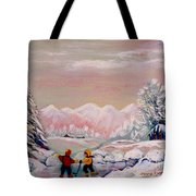 Beautiful Winter Fairytale Tote Bag