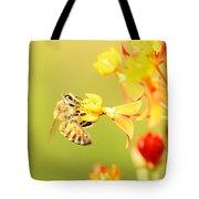 Bee On Milkweed Tote Bag