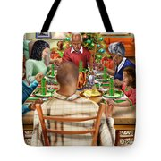 Bless Us O Lord And These Thy Gifts Tote Bag