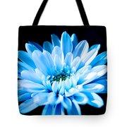 Blue Chrysanthemum Tote Bag