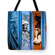 Bluesy Skateboard Art Tote Bag