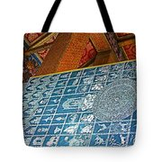 Bottom Of A Foot Of Reclining Buddha In Wat Po In Bangkok-thail Tote Bag