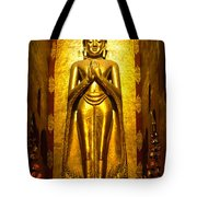Buddha Inside Ananda Temple - Bagan - Myanmar Tote Bag