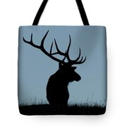 Bull Elk At First Light Tote Bag