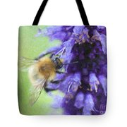 Bumblebee On Buddleja Tote Bag