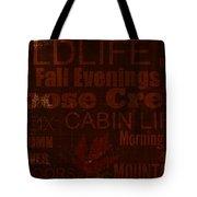 Cabin Life Tote Bag