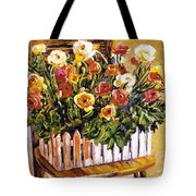 Chair Of Flowers Tote Bag