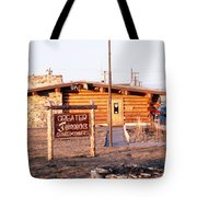 Chamber Of Commerce Log Cabin Fairbanks Alaska 1969 Tote Bag