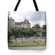 Chateau De Chaumont Stands Above The River Loire Tote Bag