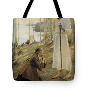 Christ And Mary Magdalene A Finnish Legend Tote Bag