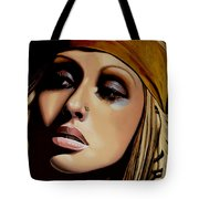 Christina Aguilera Painting Tote Bag