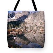 Cirque Of The Towers In Lonesome Lake   Tote Bag