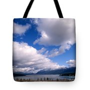 Clouds Over Lake Quinault Tote Bag