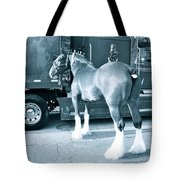 Clydesdale In Black And White Tote Bag