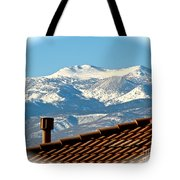 Cold Day New Snow Up There Tote Bag