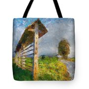Country Road With Hayrack Tote Bag