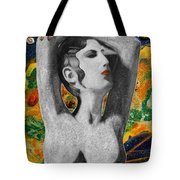 Cyprus Map And Aphrodite Tote Bag by Augusta Stylianou