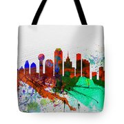 Dallas Watercolor Skyline Tote Bag