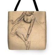 Dancer Adjusting Her Slipper Tote Bag
