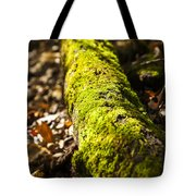 Dead Log With Moss Tote Bag