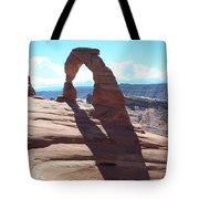 Delicate Arch And Shadow Tote Bag
