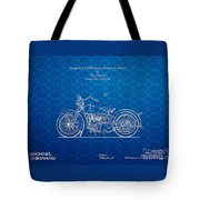 Design For A 1928 Harley Motorcycle Patent Tote Bag