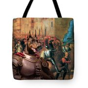 Doberman Pinscher Art -entree De Charles Viii Dans Florence Tote Bag