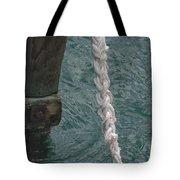 Dock Rope And Wood Tote Bag