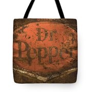 Dr Pepper Vintage Sign Tote Bag