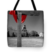 Mission San Juan Easter Cross Tote Bag