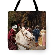 English Bulldog Art Canvas Print - Les Fiances Tote Bag