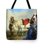 English Springer Spaniel Art Canvas Print Tote Bag