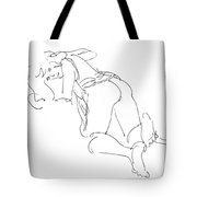 Erotic-line-drawings-23 Tote Bag