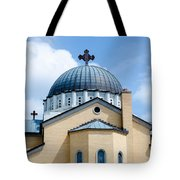 Exterior Of  Holy Trinity Gree Tote Bag