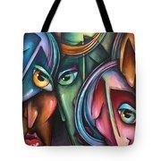 ' Face Us 2' Tote Bag