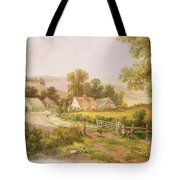Farmyard Scene Tote Bag