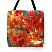 Fiery Orange Flower Tote Bag