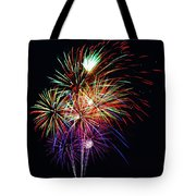 Fireworks Across The Bay Tote Bag